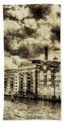Butlers Wharf London Vintage Beach Towel