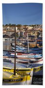 Cassis Boats Beach Towel by Brian Jannsen