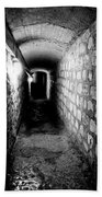Catacomb Tunnels In Paris France Beach Towel