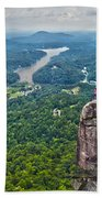 Chimney Rock At Lake Lure Beach Towel