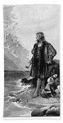 Christopher Columbus (1451-1506) Beach Towel