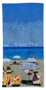 Beach At The City Of Rhodes Beach Towel