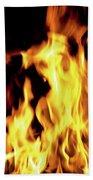 Close-up Of Fire Flames Beach Towel