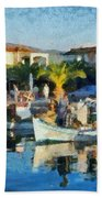 Colorful Port Beach Towel
