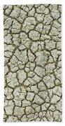 Cracked Dry Clay Beach Towel