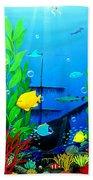 3-d Aquarium Beach Towel