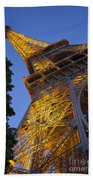 Eiffel Twilight Beach Towel