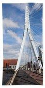 Erasmus Bridge In Rotterdam Beach Towel
