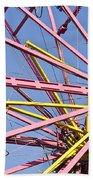 Evergreen State Fair Ferris Wheel Beach Towel