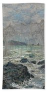 Fishing Nets At Pourville Beach Towel