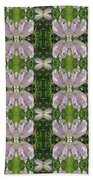 Flowers From Cherryhill Nj America Silken Sparkle Purple Tone Graphically Enhanced Innovative Patter Beach Towel