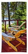 Forest Cottage Deck And Chairs Beach Sheet