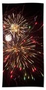 Fourth Of July Fireworks Beach Towel