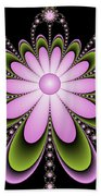 Fractal Floral Decorations Beach Towel