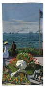Garden At Sainte-adresse Beach Towel