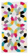 Geometric  Beach Towel by Mark Ashkenazi