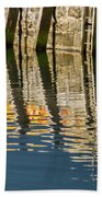 Harbour Reflections Beach Towel