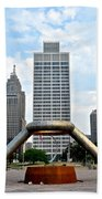 Hart Plaza Detroit Beach Towel