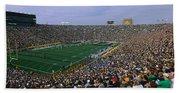 High Angle View Of A Football Stadium Beach Towel