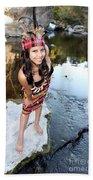 Indian Woman Beach Towel