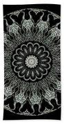 Kaleidoscope Ernst Haeckl Sea Life Series Black And White Set On Beach Towel