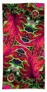 Kaleidoscope Made From An Image Of A Coleus Plant Beach Towel