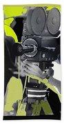 3 Kvoa Tv News Cinematographers Frank Sharkey Dave Sonderegger Jackie Sharkey Tucson Az Collage 2011 Beach Towel