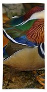 Mandarin Duck Beach Towel