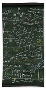 Maths Formula On Chalkboard Beach Towel by Setsiri Silapasuwanchai