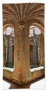 Medieval Monastery Cloister Beach Towel