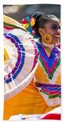 Mexican Folk Dancers Beach Towel