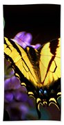 Monarch On Mountain Laurel Beach Towel