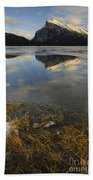 Mt. Rundle And Vermillion Lake Beach Towel