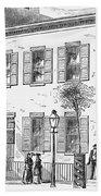 New York: Dispensary, 1868 Beach Towel