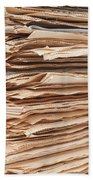Newspaper Stack Beach Towel