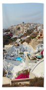 Oia Village Santorini Greece Beach Towel