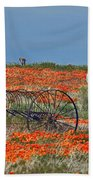 Old Farm Equipment Beach Towel