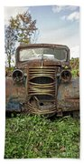 Old Junker Car Beach Towel