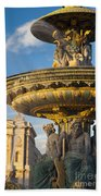 Paris Fountain Beach Towel