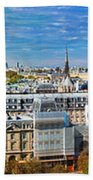 Paris Panorama France Beach Towel