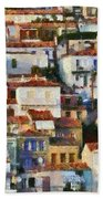 Plomari Town Beach Towel
