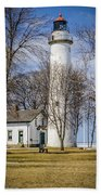 Pointe Aux Barques  Lighthouse Beach Towel