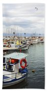 Port Of Aegina Beach Towel