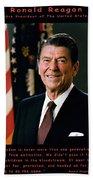 President Ronald Reagan Beach Towel