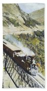 Railroad Bridge, C1870 Beach Towel