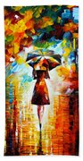 Rain Princess Beach Towel by Leonid Afremov