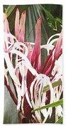 Queen Emma Crinum Lilies Beach Towel