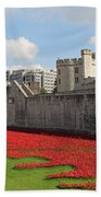 Remembrance Poppies At The Tower Of London Beach Towel