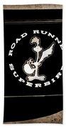 Road Runner Superbird Emblem Beach Towel