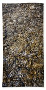 Rocks In Water Beach Towel